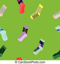 Seamless socks pattern
