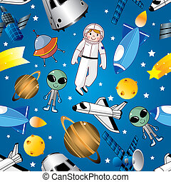 seamless space pattern  - seamless space pattern