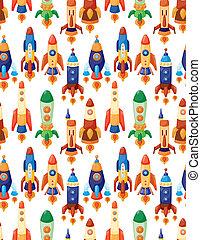 seamless spaceship pattern