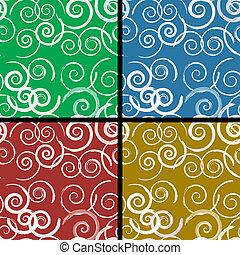Seamless spiral pattern