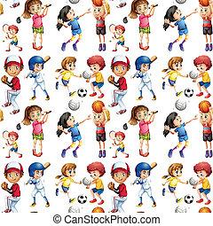Seamless sport - Illustration of a seamless sport