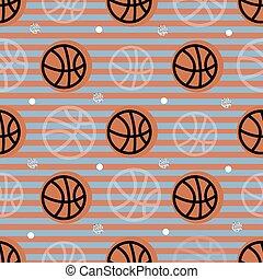 seamless sport pattern on stripe background from basketball