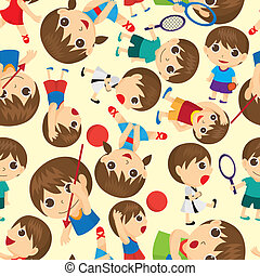 seamless sport people pattern - seamless sport people...