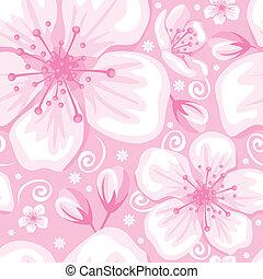 Seamless spring background - Seamless gentle spring flower...