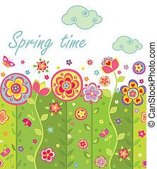 Seamless spring card