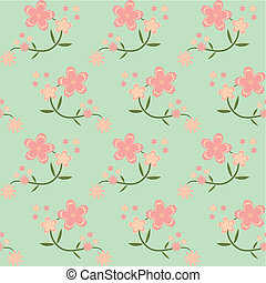 seamless spring flower background