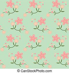 seamless spring flower background