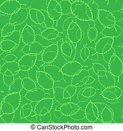 Seamless Spring Green Leaves Background