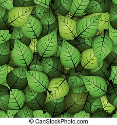 Seamless Spring Leaves Background
