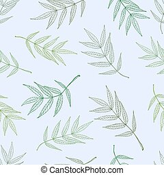 Seamless spring pattern from ashberry leaves