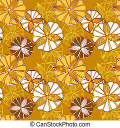 Seamless spring pattern with flowers