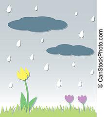 Seamless Spring Rain