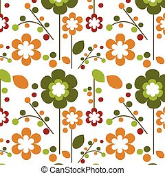 seamless springtime flowers bloom template design -1