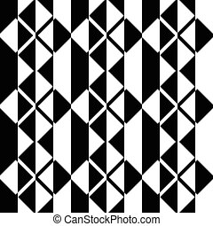 Seamless Square and Stripe Pattern. Abstract Monochrome ...