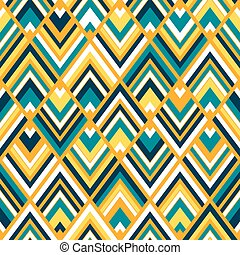 Seamless square chevrons pattern vector.