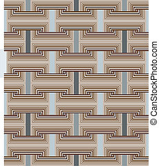 seamless square links - brown rectangular grid above...