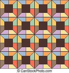 Seamless square pattern. Abstract stripes endless...