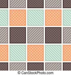 seamless square tiles pattern