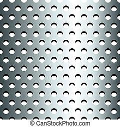 Seamless stainless metallic grid pattern
