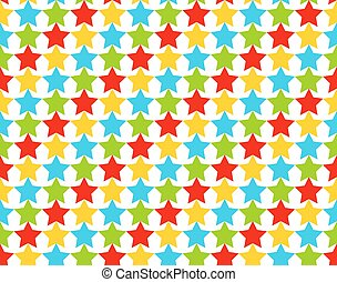 Seamless star pattern in shiny colo