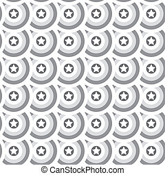 Seamless star texture. Gray circles background