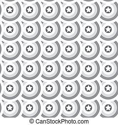 Seamless star texture. Gray circles background