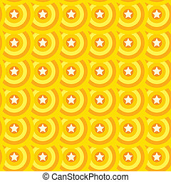 Seamless star texture. Orange yellow background.
