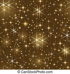 seamless, starry hemel, kerstmis, spar