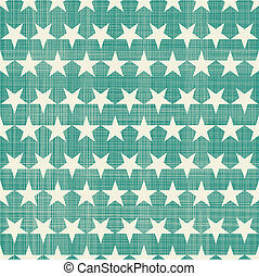 seamless stars pattern in retro faded green