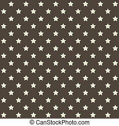 Seamless Stars Pattern in Retro Red. Vector