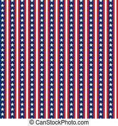 Seamless Stars & Stripes - White stars tile seamlessly on ...