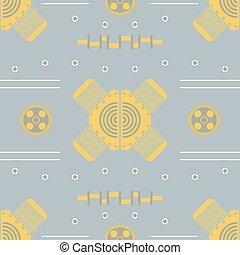 steampunk vector background vintage template design for banners