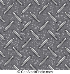 seamless steel diamond plate grunge texture