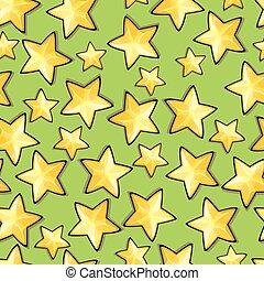 seamless, stelle, modello, cartone animato