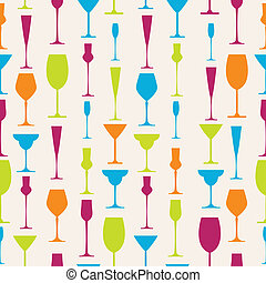 Seamless stemware background - Seamless background with...