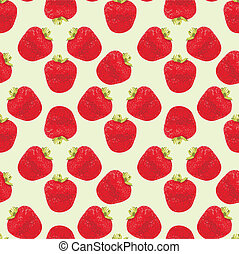 Seamless strawberries pattern