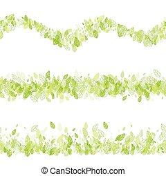 Seamless strip green border