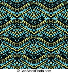 Seamless striped floral geometric pattern.Trendy print with colorful stripes.