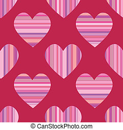 Seamless Striped Hearts