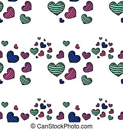 Seamless striped pattern with heart