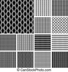Seamless striped textures. - Striped textures with diamond...