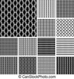 Seamless striped textures. - Striped textures with diamond...