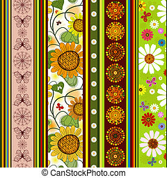 Seamless striped vivid pattern