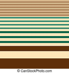 Seamless stripes pattern geometric vector background design with different widths of brown green lines coming from thick to thin on beige backdrop