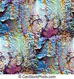 seamless, struktur, av, rostig, färgad, grov