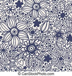 seamless, struttura, con, flowers.