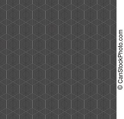 Monochrome pattern with intersecting hexagonal grid -...