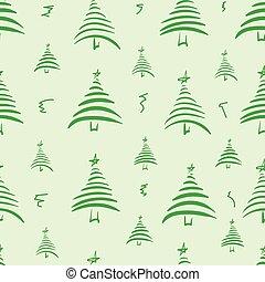 Seamless stylized fir-trees