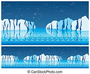 the polar ice