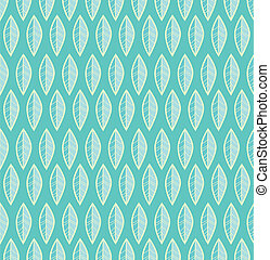 Seamless stylized leaf pattern vector background.
